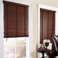 Interesting Brown Window Blinds Design In Elegant Living ...