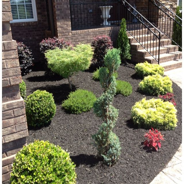 Landscaping Ideas With Black Mulch DIY Dream Home Landscape