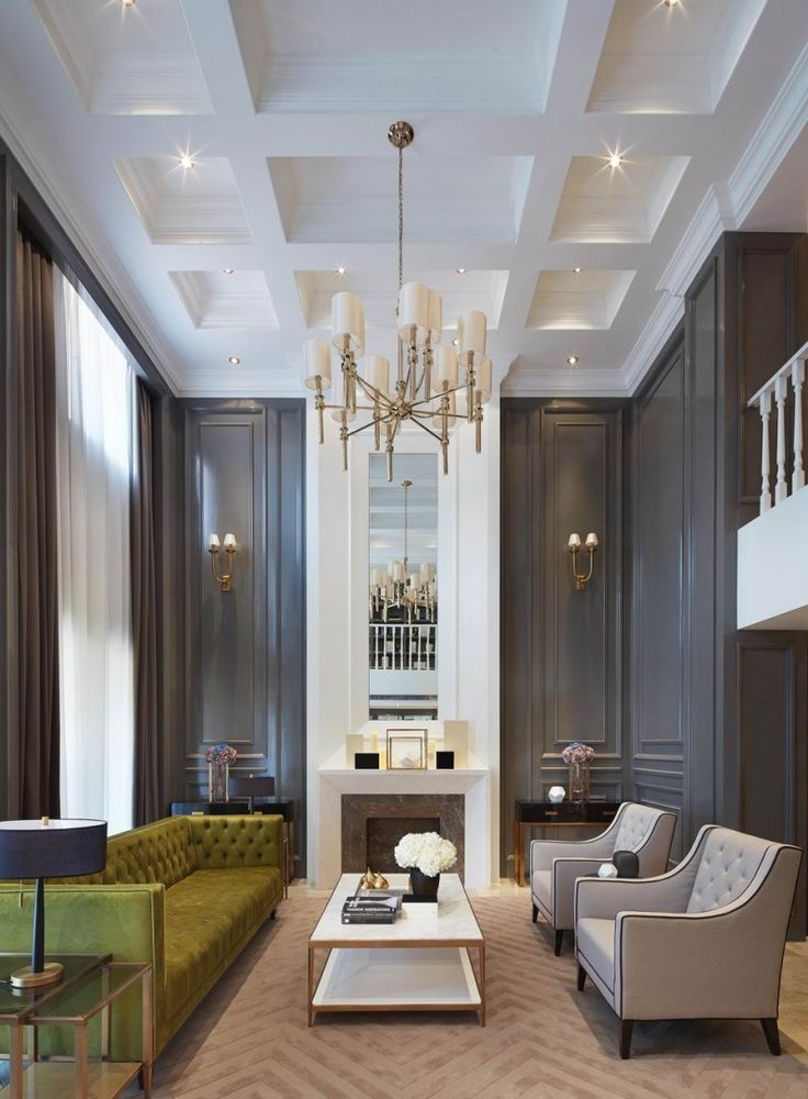 15 Living Rooms With Coffered Ceiling Designs  My Style
