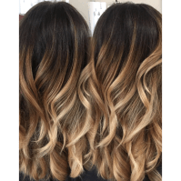 Colormelt balayage color melt hair painting freehand ...