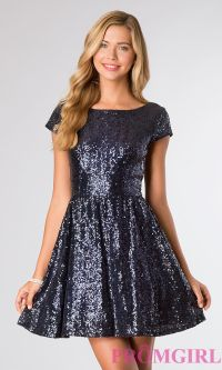 Short Sequin Dresses, Short Sleeve Dresses- PromGirl ...