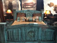 Turquoise rustic bed frames | Things to build | Pinterest ...