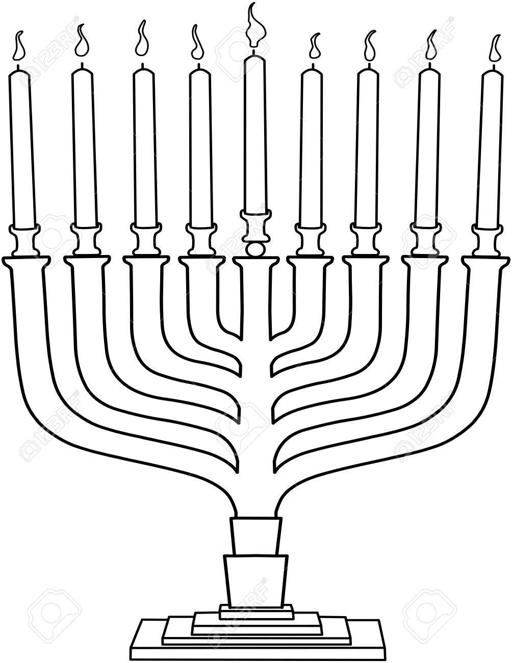 Jewish Candles Clip Art