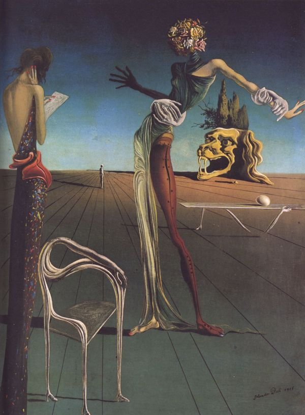 Dali Woman with Head of Roses
