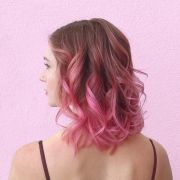 lovely pink ombre hair design
