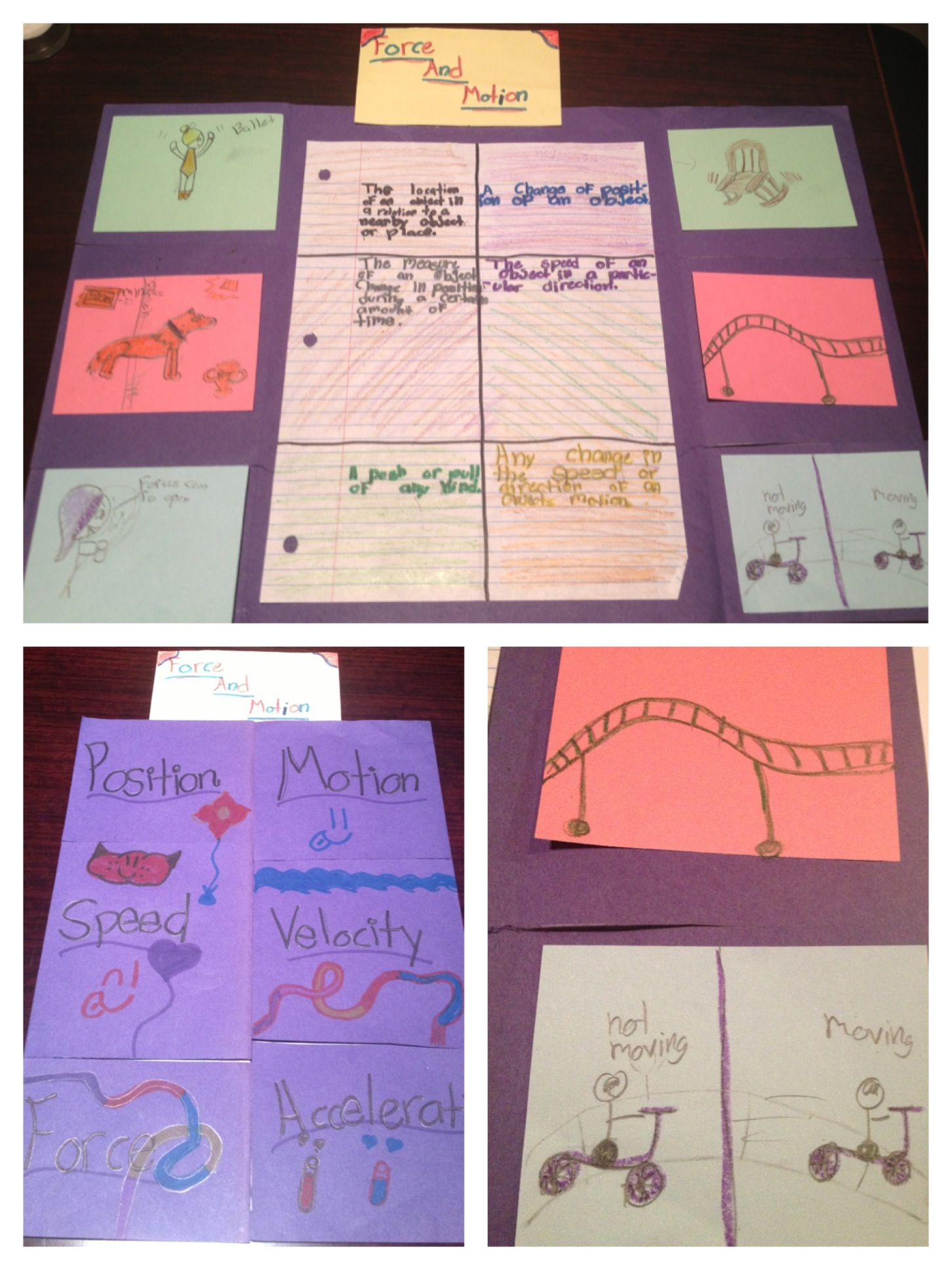Force And Motion Foldable