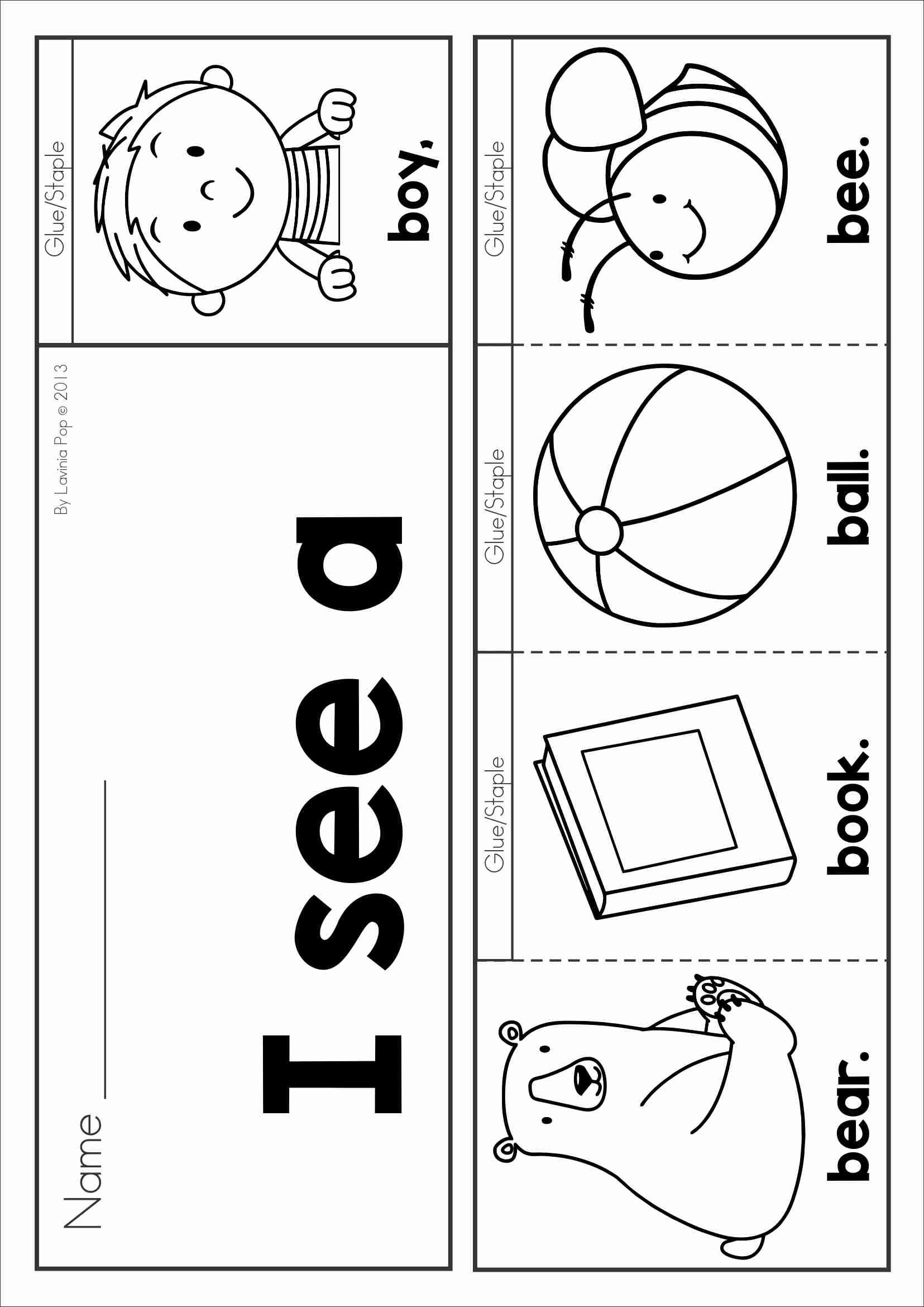 Free Phonics Letter Of The Week B Sight Words And Beginning Sounds Flip Book In Color And Black