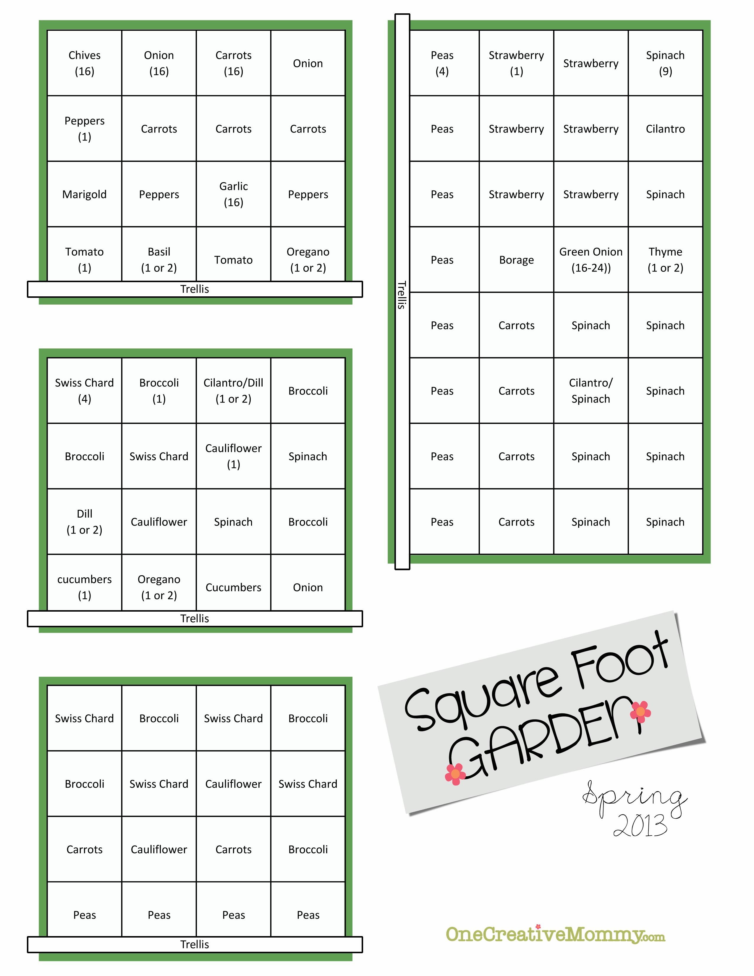 Square Foot Garden Plans For Spring Gardens Raised Beds And Diy