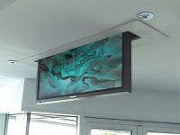 Retractable tv into the ceiling | Sala de estar ...