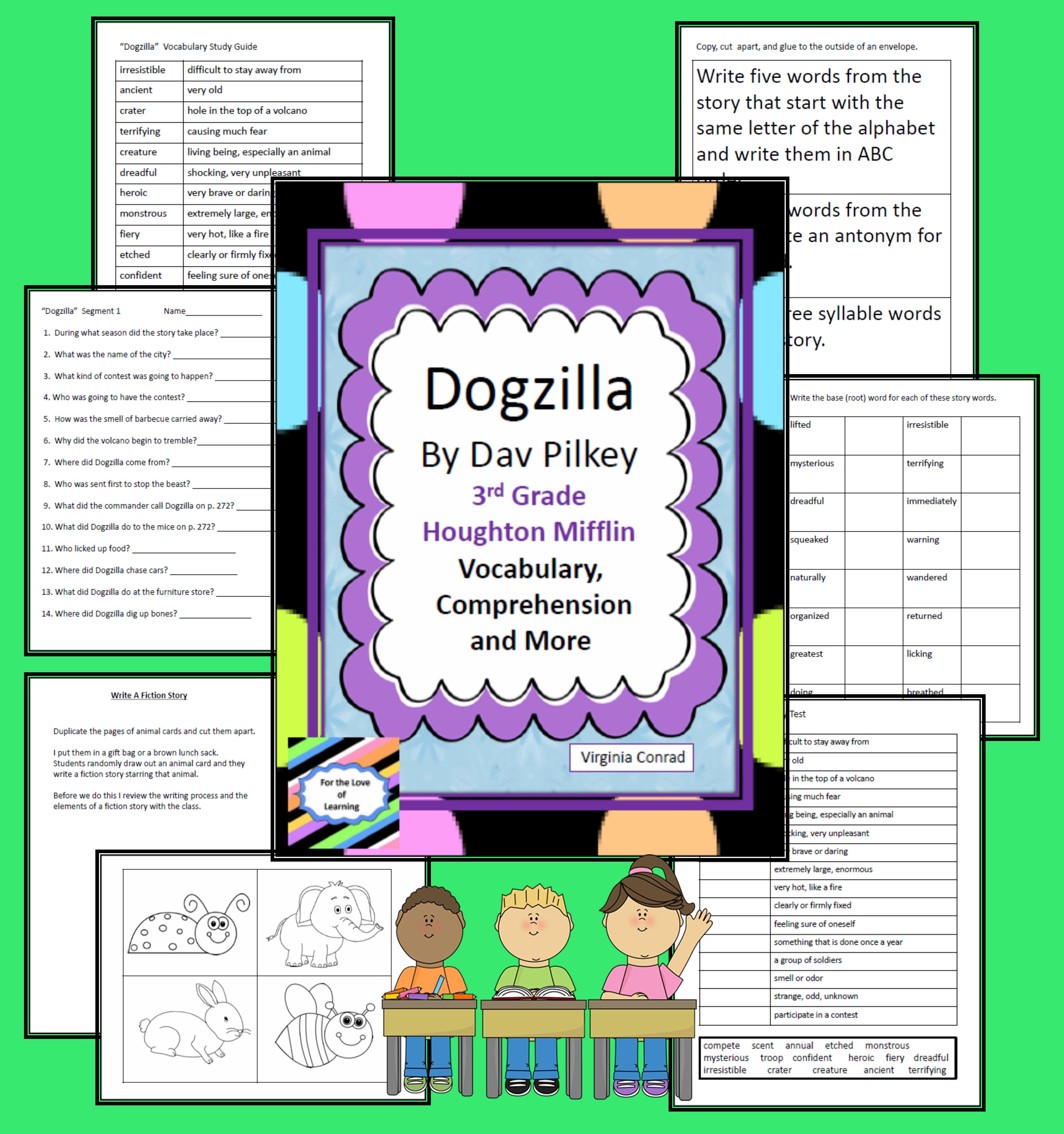 Dogzilla By Dav Pilkey Vocabulary And Comprehension