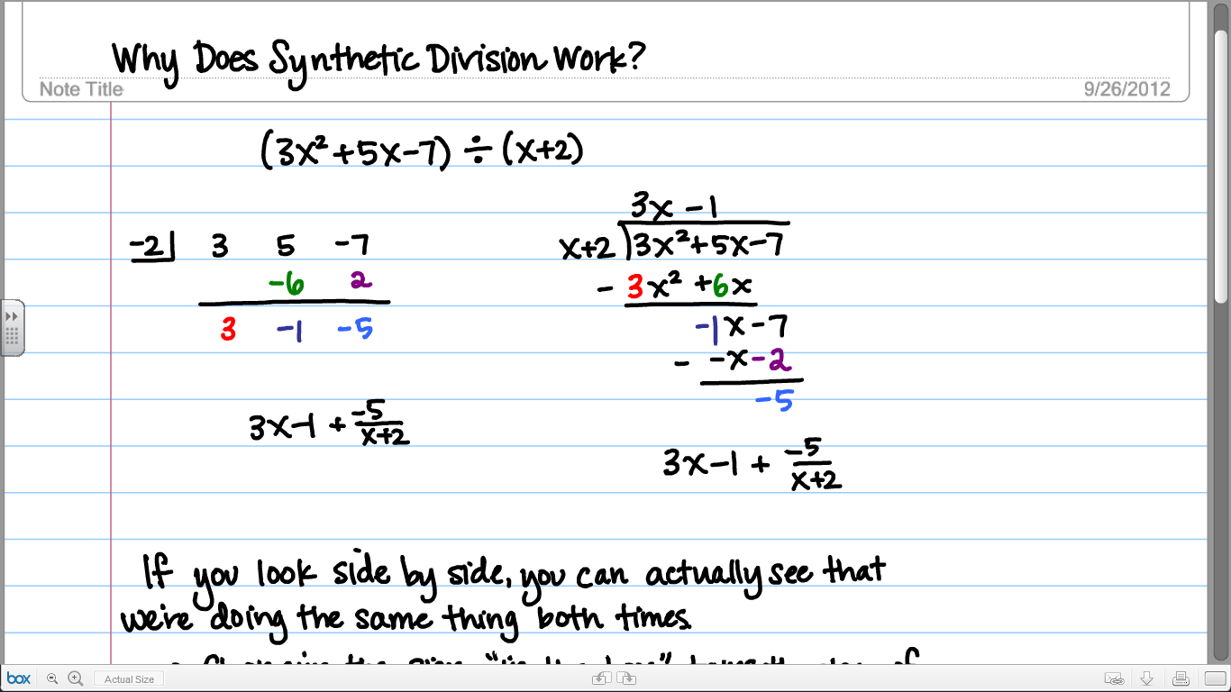 Why Does Synthetic Division Work