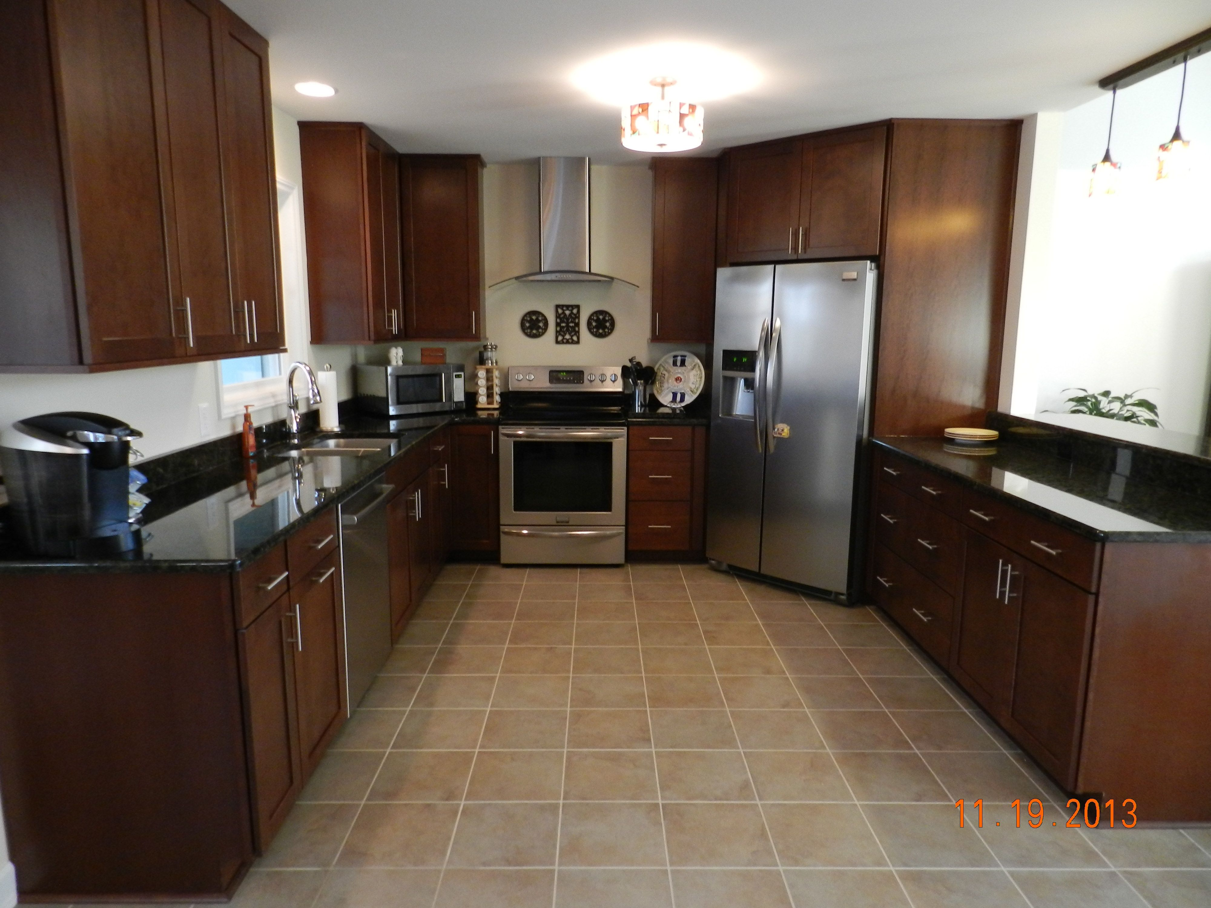 waypoint kitchen cabinets renovation costs by carpet one cherry chocolate