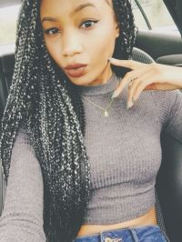 Grey Colored Marley Hair | grey marley hairstyle the new ...