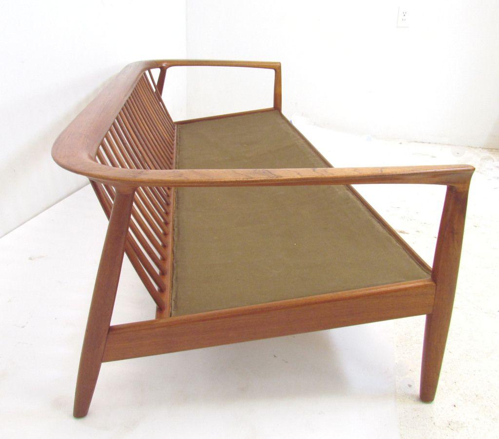 wooden sofa set without cushion oversized lounge danish teak by folke ohlsson for dux ca 1960s