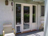 french doors with doggie door built in | Wood French Doors ...