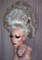 drag queen wig big tall white