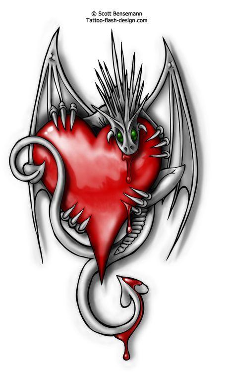 love dragon tattoo #dragon #tattoos