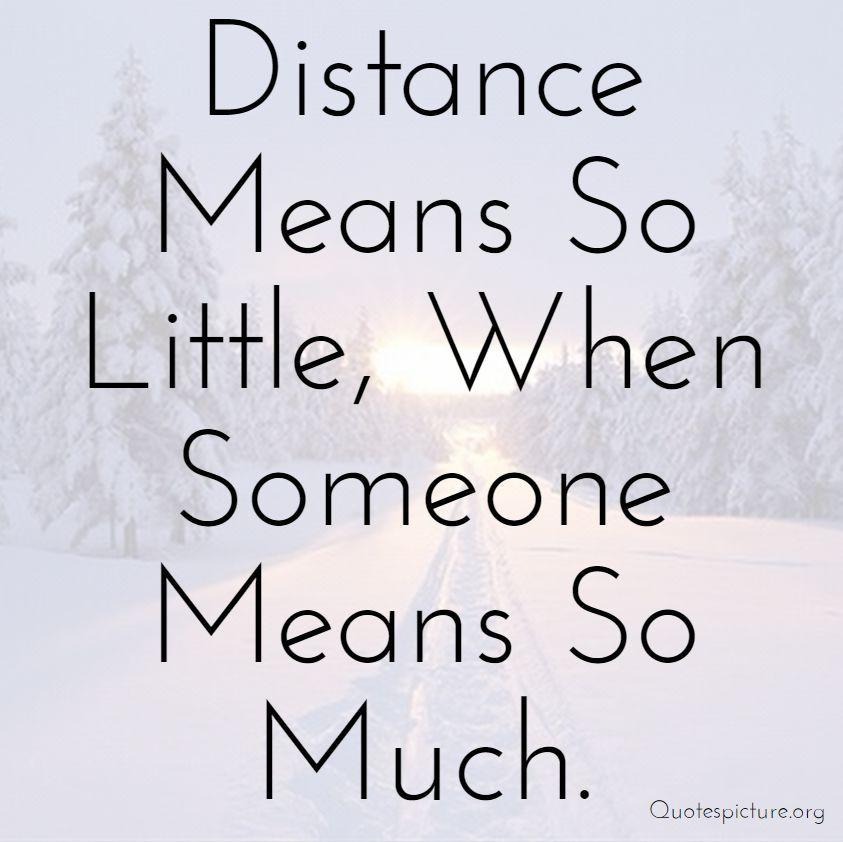 Sweet Long Distance Love Quotes