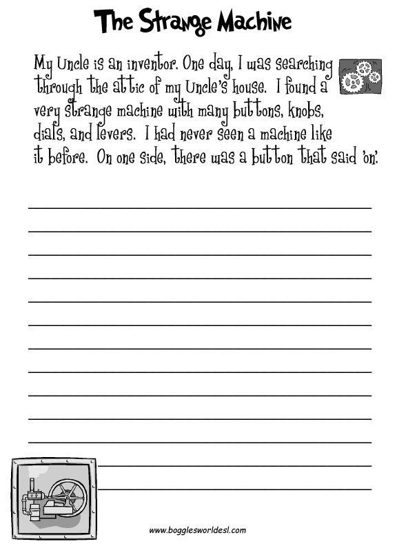 Fun creative writing prompts with worksheets.