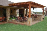 outdoor pergolas covered | Outdoor Kitchen, Weatherproof ...