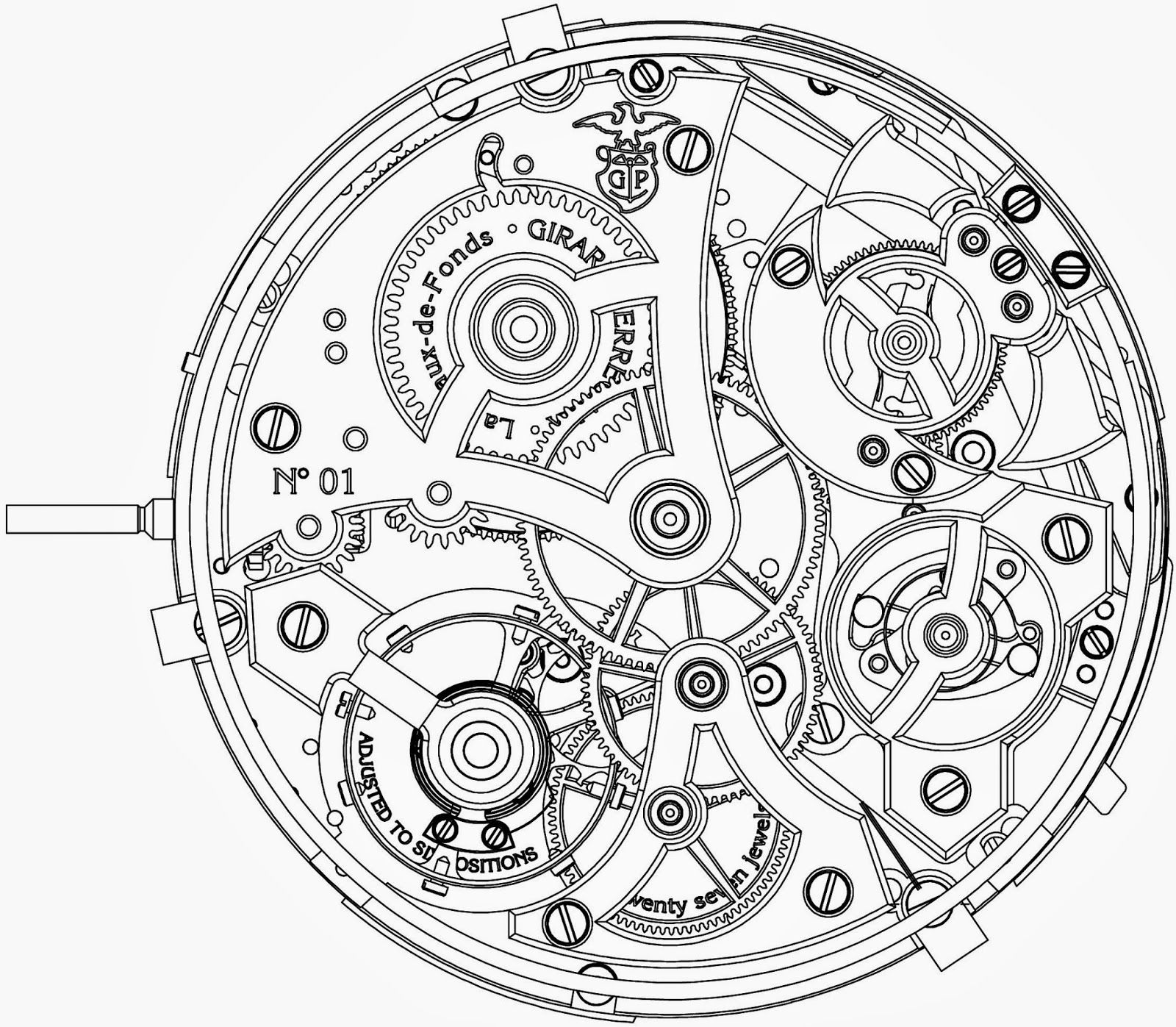 Wheel Technical Drawing Sketch Coloring Page