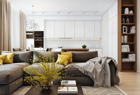 Suitable to apply  simple apartment design with wooden accent decor and white color combination also rh za pinterest