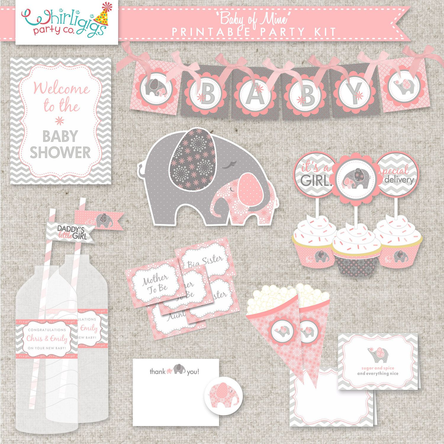 Diy Printable Baby Girl Shower