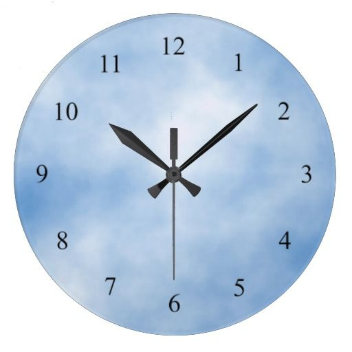 blue kitchen wall clocks ikea storage cabinets and white cloudy day clock