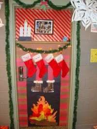 Christmas door decorating contest winner! My roommates and ...