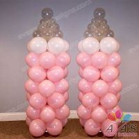Pink Baby Bottle Balloon Column, great addition for a girl