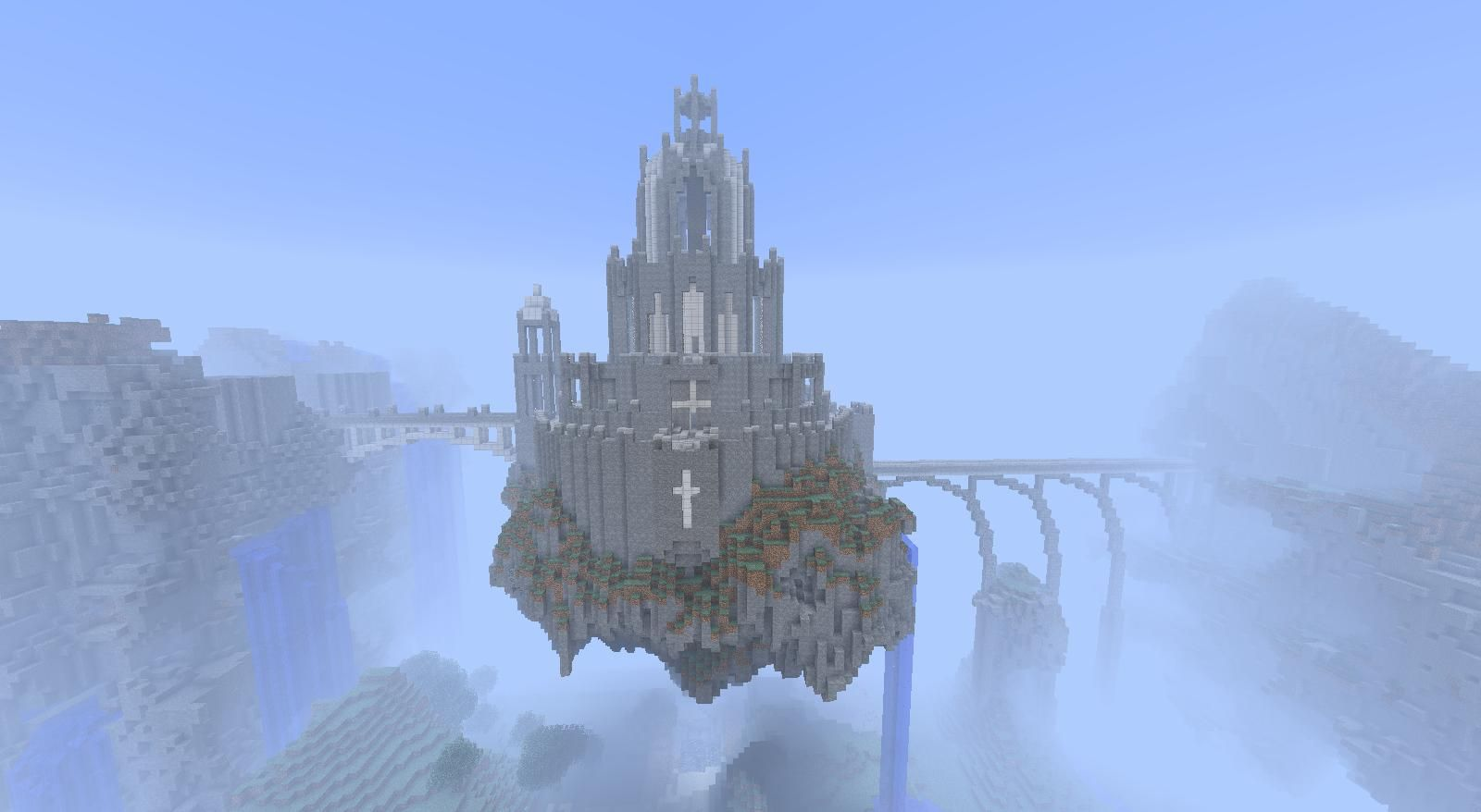 Floating Castle Minecraft Castle Castles And Minecraft Ideas