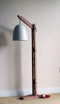 Vintage wooden stand lamp,Floor lamp standing   Floor lamp ...