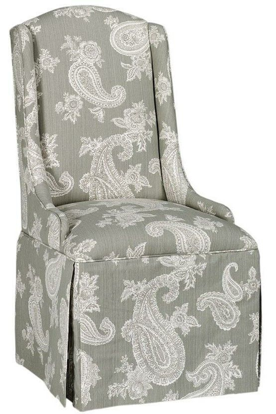 skirted parsons chairI like the style different fabric