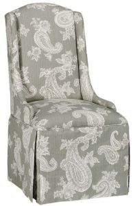 skirted parsons chair--I like the style, different fabric ...