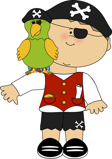 pirate with parrot shoulder