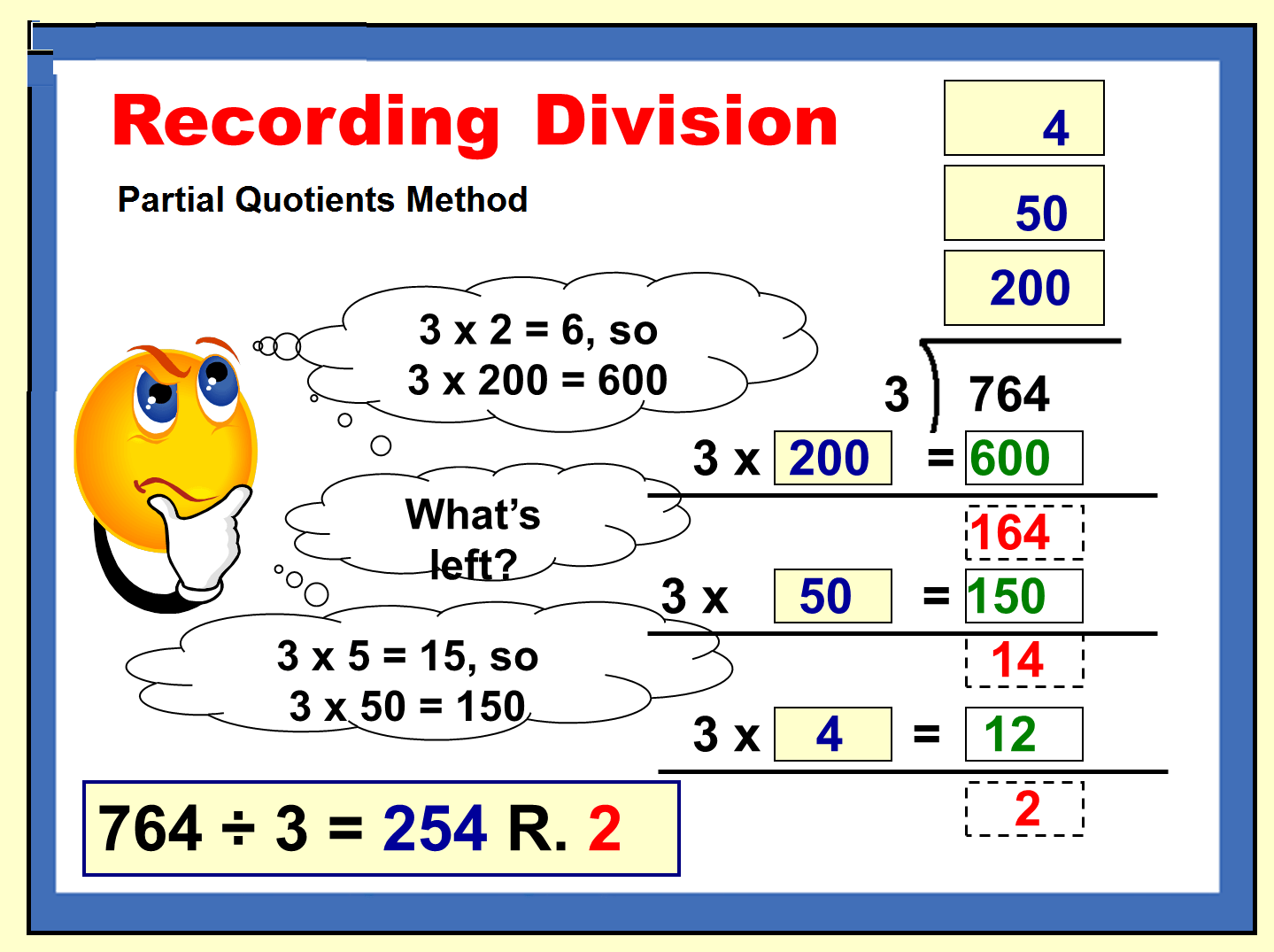 Division With Partial Quotients Is Is More The Process