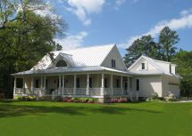 Farmhouse with Wrap around Porch House Plans