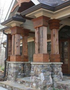 Porch very similiarvto our home designs also house pictures timber posts rock and strength rh pinterest