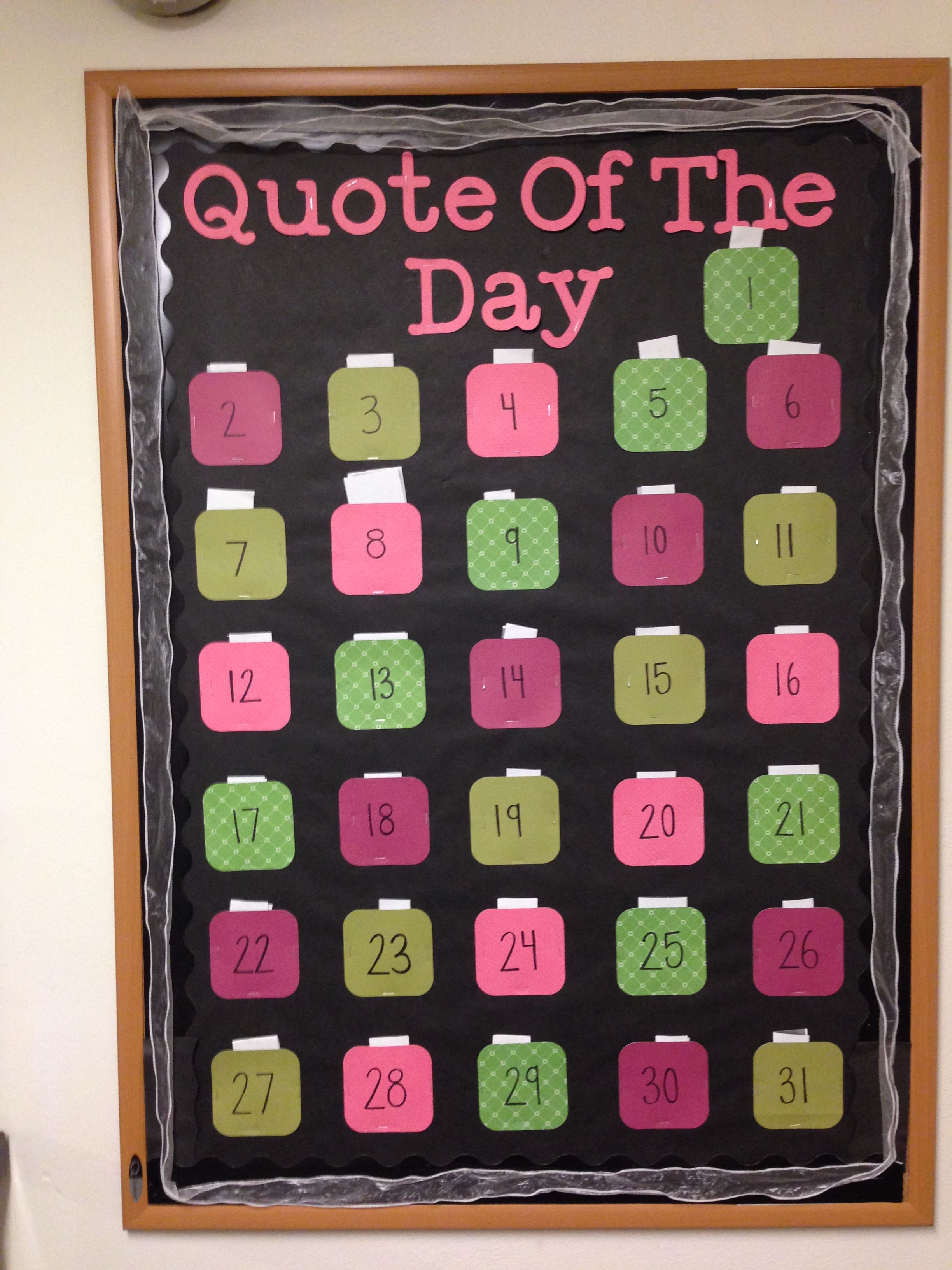 Quote Of The Day Passive Bulletin Board