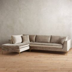 Anthropologie Sofa Recliner Reviews Slub Velvet Edlyn Left Sectional