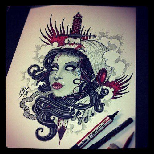 New Old School Tattoo  Tattoo  Pinterest  Tattoo, Neo