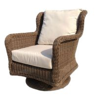 Bayshore Outdoor Wicker Swivel Chair #wicker #patio # ...