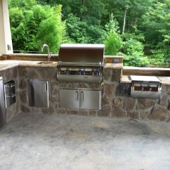 Grills For Outdoor Kitchens How Much Is A Kitchen Island This Custom With Built In Fire