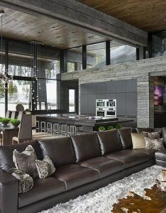 Big sky vacation home by len cotsovolos and lc design also interior rh pinterest