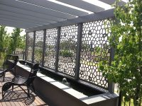 Decorative screens create privacy and shade for patios ...