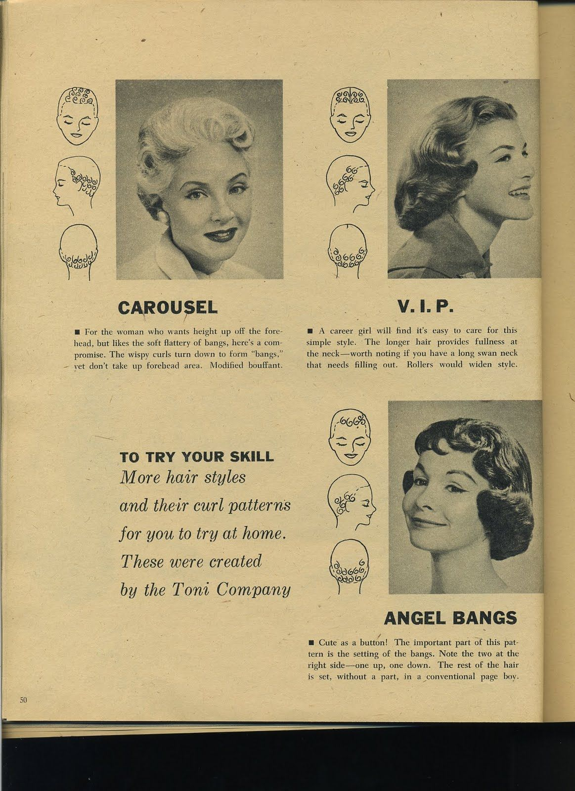 vintage pin curls diagram ford fiesta 2006 radio wiring this curl pattern for quotangel bangs quot is beyond adorable
