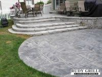 Stamped Decorative Concrete Raised Patios NJ | Outdoor ...