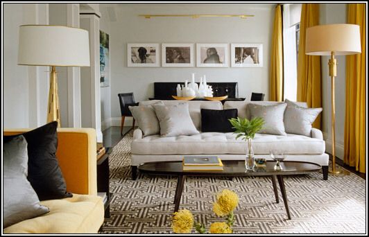From the colors to geometric pattern rug this family room is just lovely photos elle decor also color texture home pinterest rh
