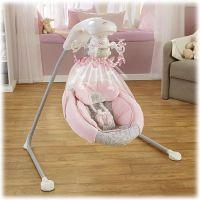 Pink Chandelier Baby Swing | Babys Room- Girl | Pinterest ...