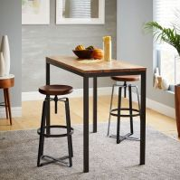 "Box Frame Dining Table - 48"" Counter, Raw Mango 